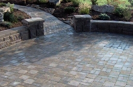Paver Patio With Aztec Fence